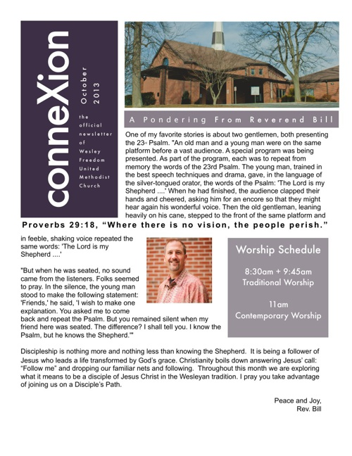 Wesley Freedom October Newsletter
