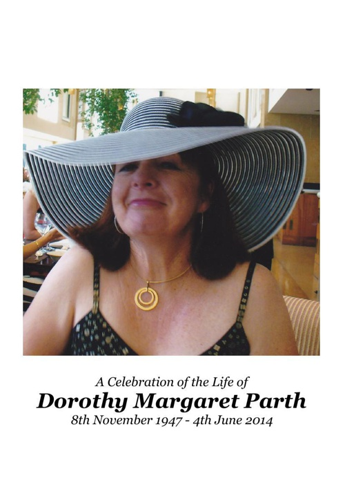 4 Order of Service for Dorothy Parth