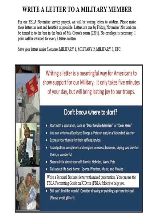 Letter to Military Member Flyer