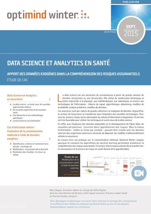 Optimind Winter - Data Science et Analytics en Santé