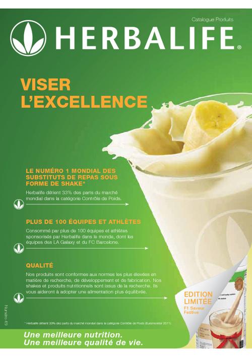 Catalogue Produits Herbalife France déc2012