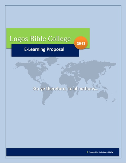 E-Learning Proposal