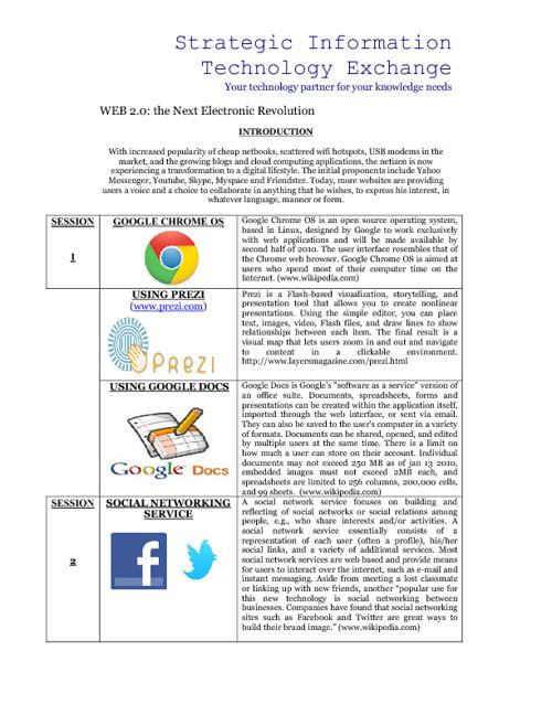 Strategic Information Technology Exchange