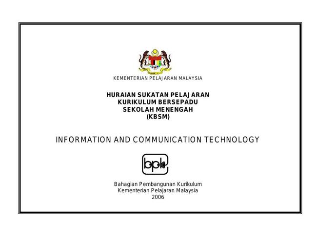Sukatan Pelajaran ICT SPM