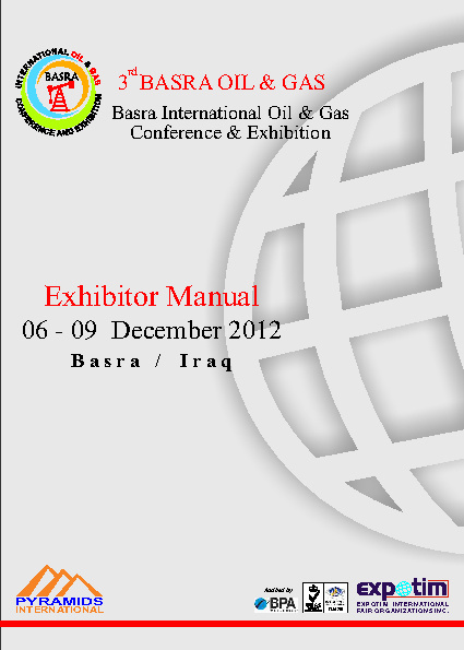 Basra Oil & Gas Exhibitor Manuel