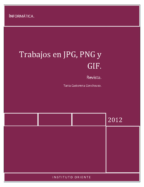 Archivos en JPG, GIF y PNG.