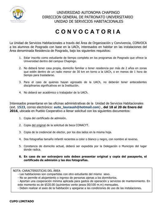 CONVOCATORIA_U. HABITACIONAL_POSGRADO