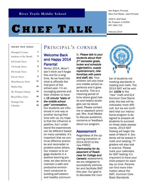 RTMS February 2014 Chieftalk