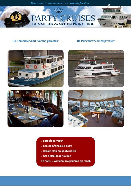 Party-cruises Brochure