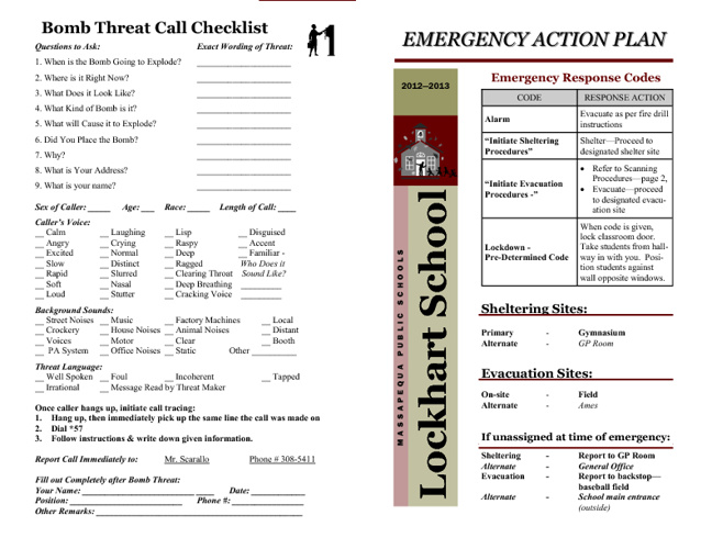 Emergency Action Plan 2012-2013
