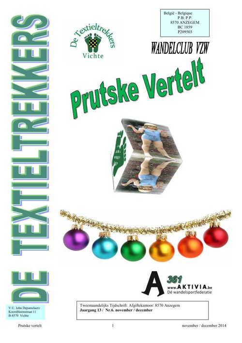 Prutske Vertelt : November - December 2014