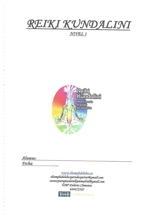 Manual Reiki Kundalini nivel 1
