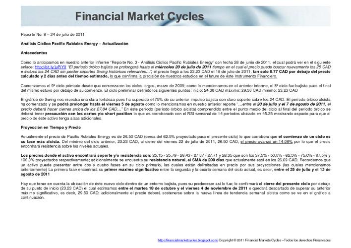 Reporte No. 8 – Análisis Cíclico Pacific Rubiales Energy – Actua