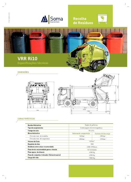 Ficha de Produto VRR Ri10 - Caixa de Recolha de RSU