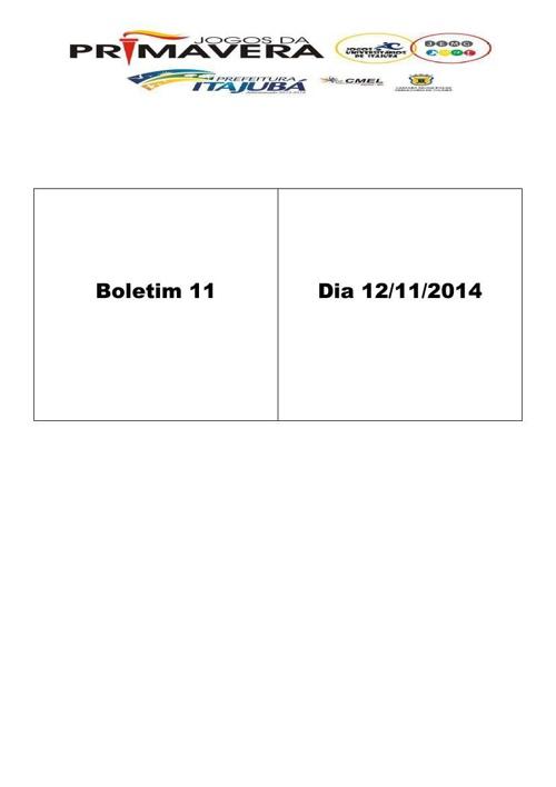 Boletim 11 Jogos de Primavera 2014