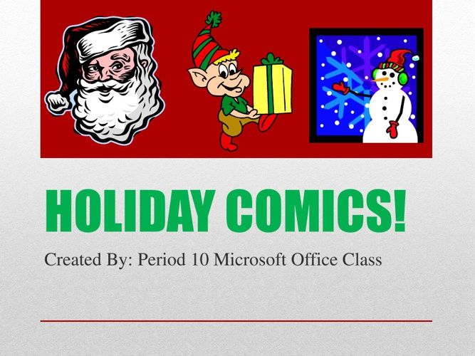 Period 10 Holiday Flip Book