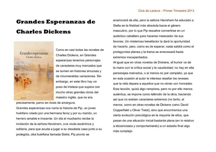 Club de Lectura (Primer Trimestre 2013)