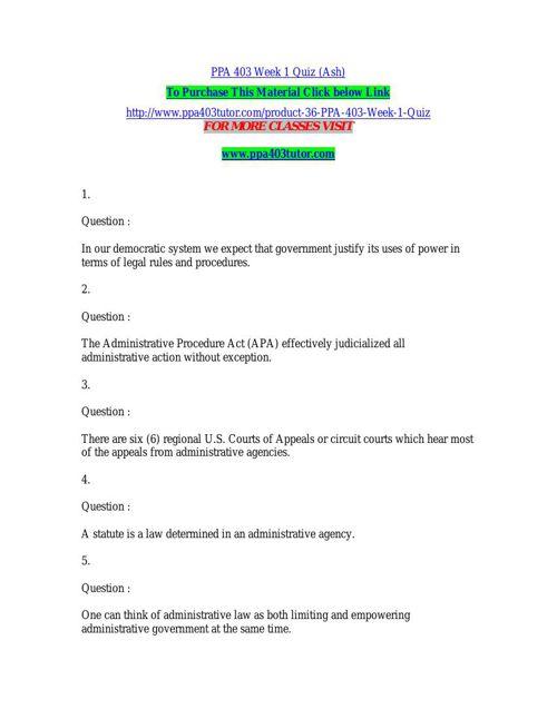 PPA 403 Week 1 Quiz (Ash)