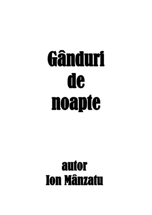 GÂNDURI DE NOAPTE