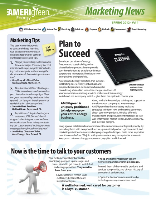 AMERIgreen Marketing Newsletter - Spring 2012