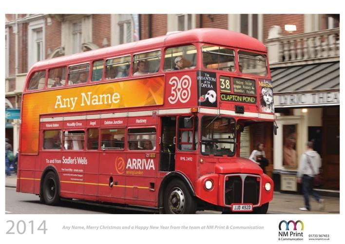 Personalised Calendar - London Calling