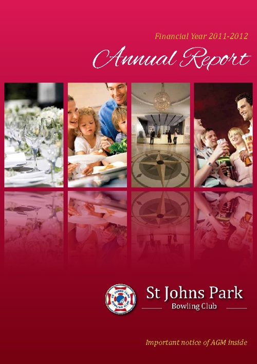 St John's Park Bowling Club Annual Report 2011-12