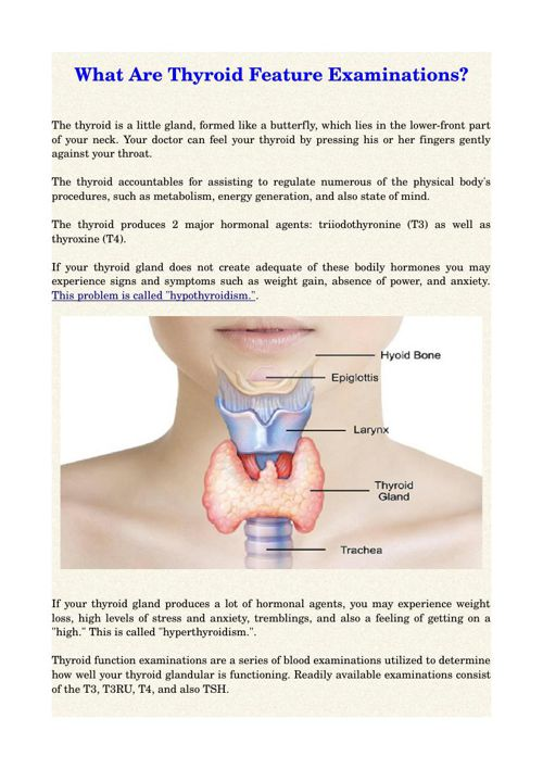 What Are Thyroid Feature Examinations?