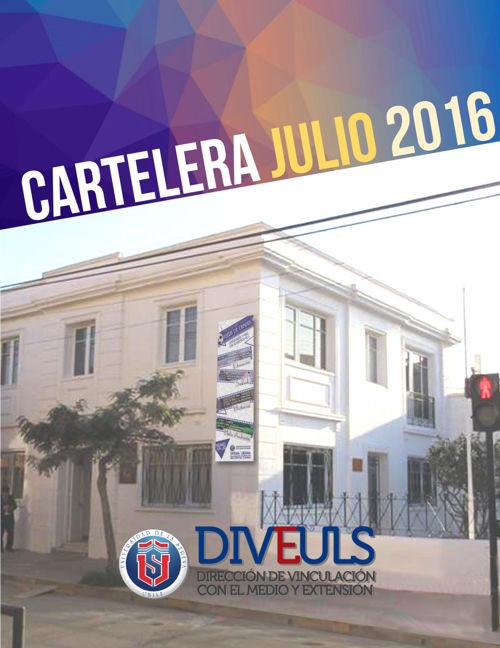 CARTELERA JULIO 2016