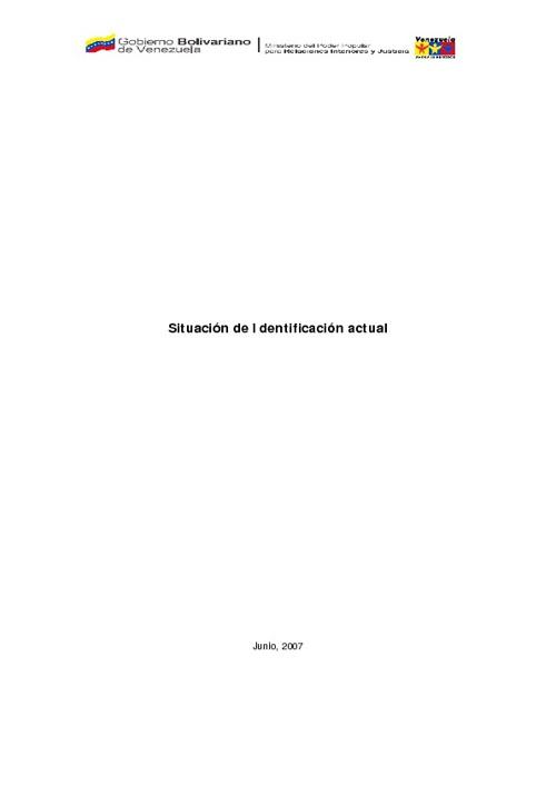 Informe de sistema de identificación venezolano