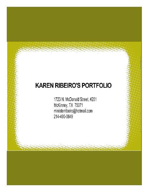 Karen Ribeiro Portfolio