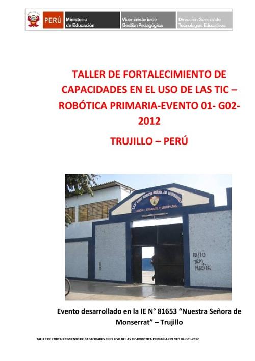 II TALLER DE ROBÓTICA -2012 - LA LIBERTAD
