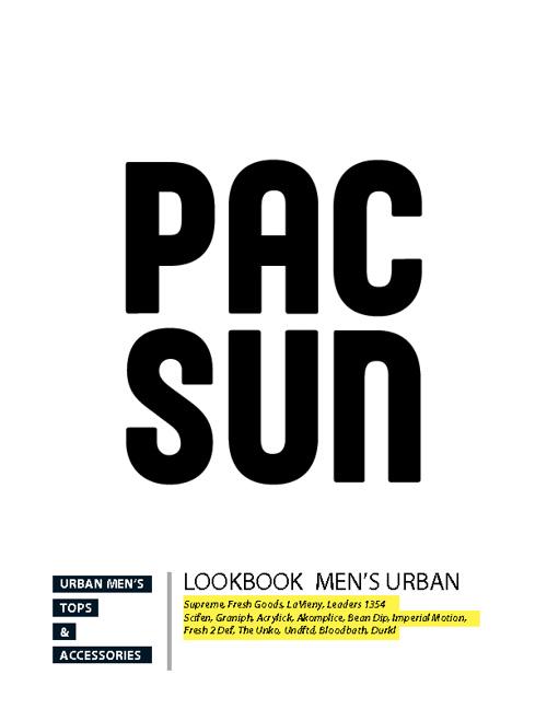 Lookbook Men's Urban Trends for PacSun