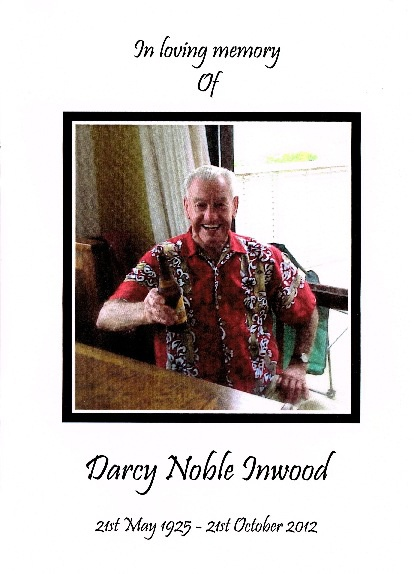 Darcy Noble Inwood Funeral Program