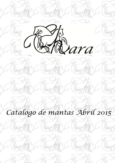Catalogo de mantas Abril 2015