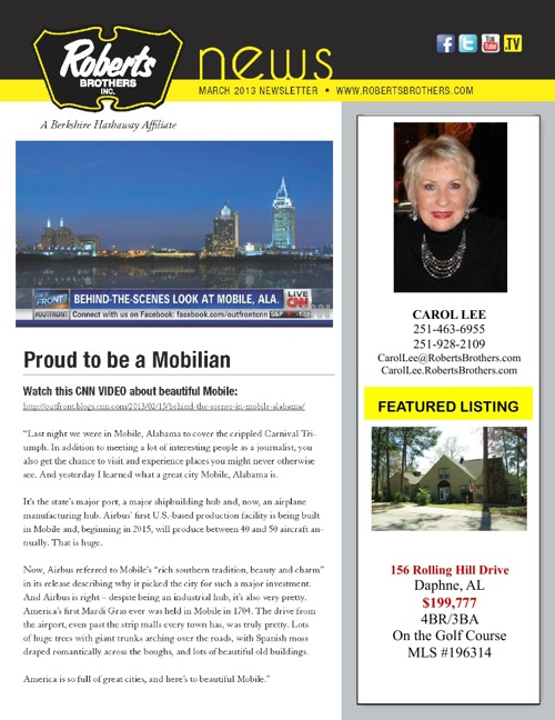 Carol March Newsletter