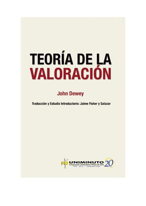 TEORÍA DE LA VALORACIÓN