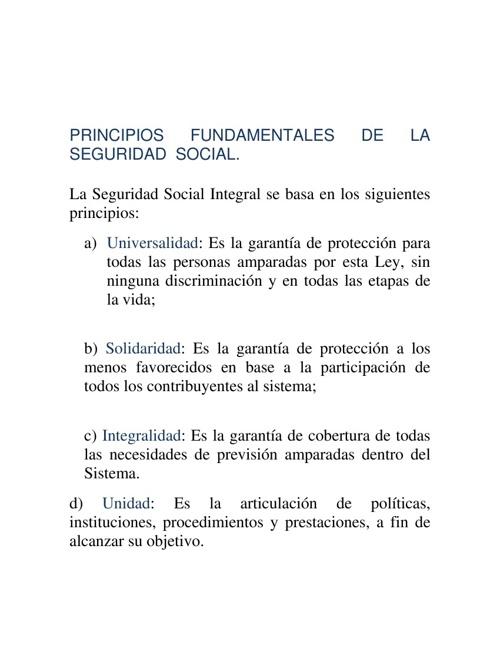 PRINCIPIOS  DE  LA ASISTENCIA  SOCIAL