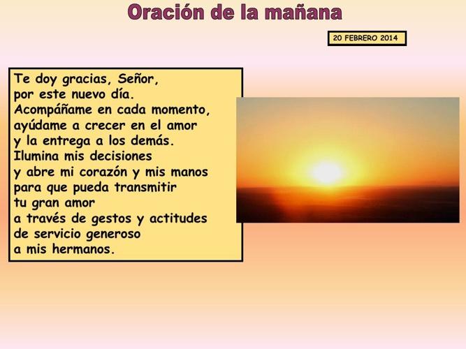 Oraciones febrero 2014 2