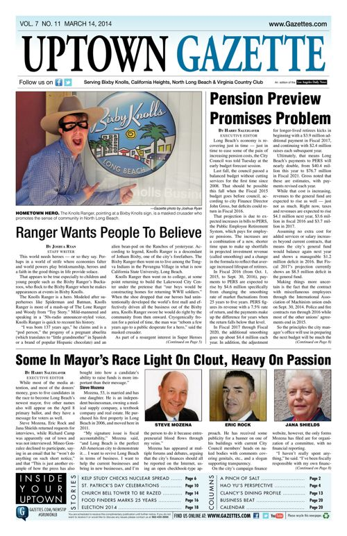 Uptown Gazette  |  March 14, 2014