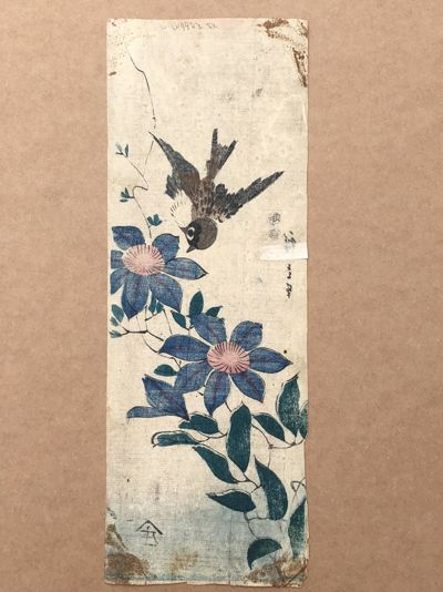 Sparrow and Passion Vines by Ando Hiroshige