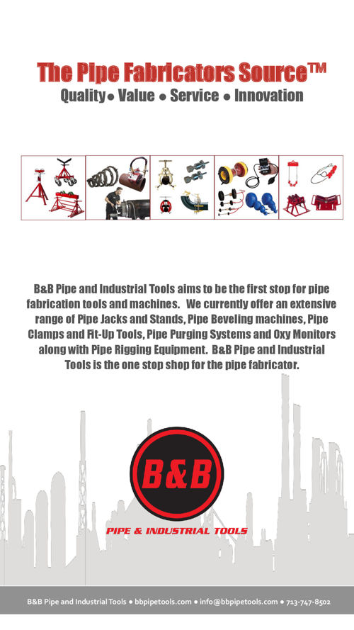 B&B Pipe and Industrial Tools - Sales Manual