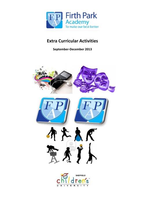 Extra Curricular Activities 2013