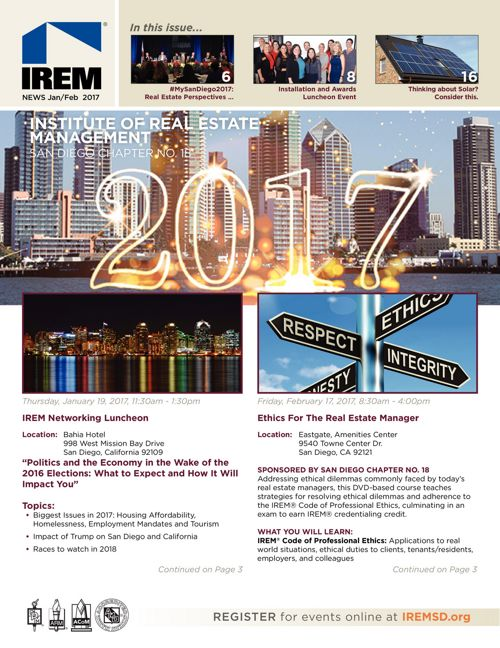 IREMSD Jan/Feb 2017 Newsletter