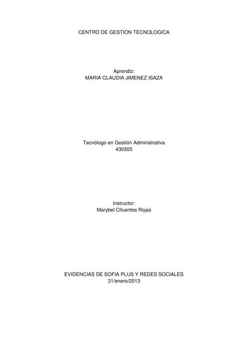 430305 Inducción Gestión TIC por María Claudia Jiménez Isaza