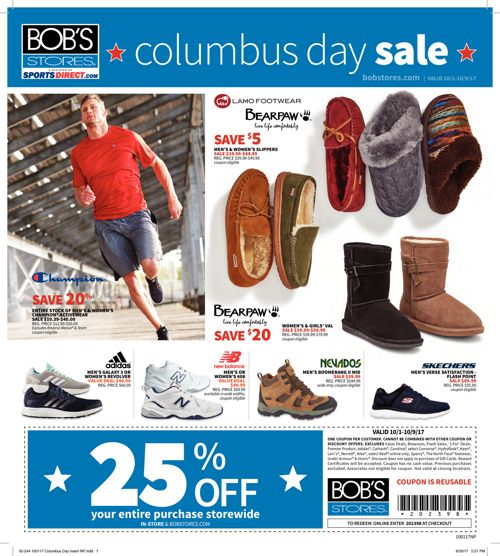 Bob's 100117 Columbus Day Flyer