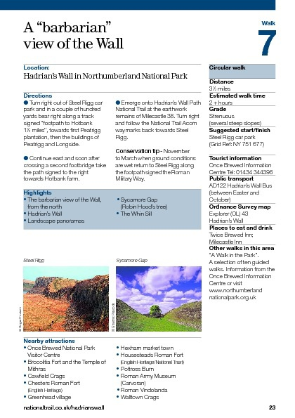 Walks in Northumberland
