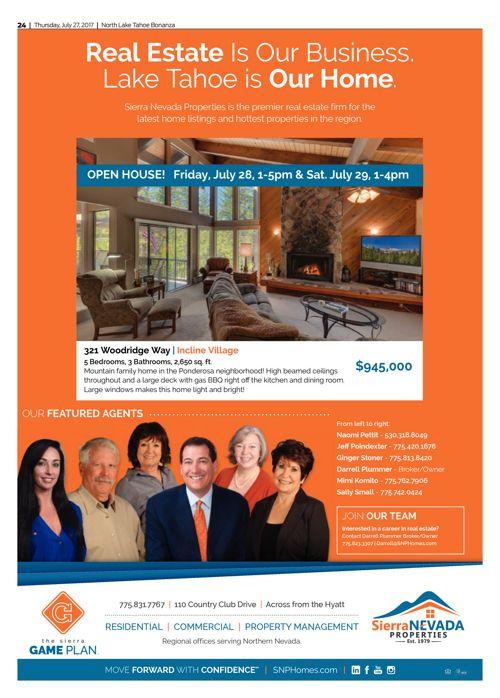 SNP Ad in Tahoe Bonanza July 27
