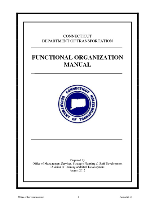 ConnDOT Functional Organization Manual