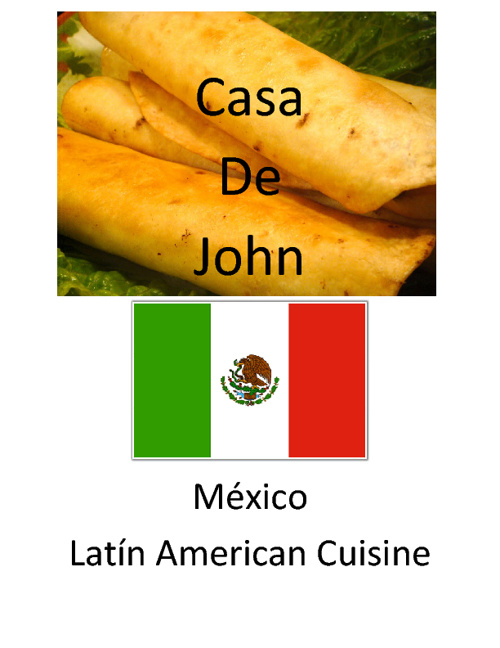 Latin American Food Menu