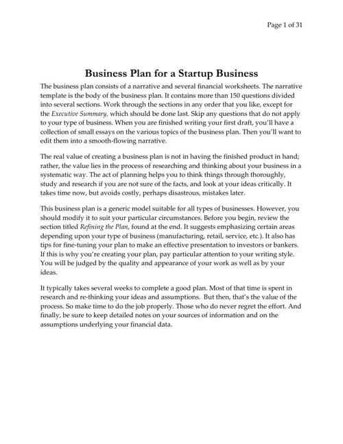 Business_Plan_for_a_Startup_Business